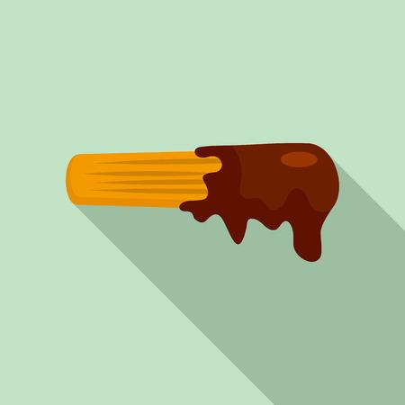 Churro icon. Flat illustration of churro vector icon for web design
