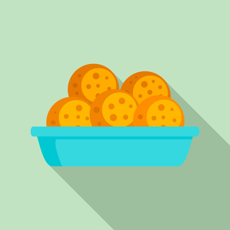 Mexican cookie icon, flat style