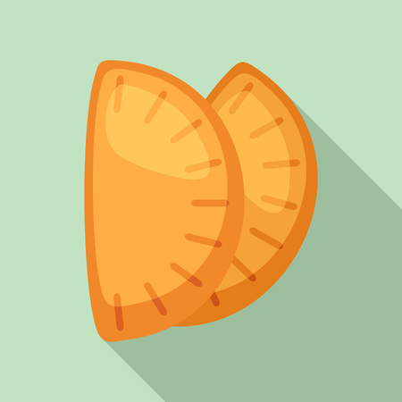 Mexican patty icon. Flat illustration of mexican patty vector icon for web design