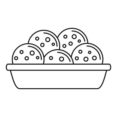 Mexican cookie icon. Outline mexican cookie vector icon for web design isolated on white background Illustration