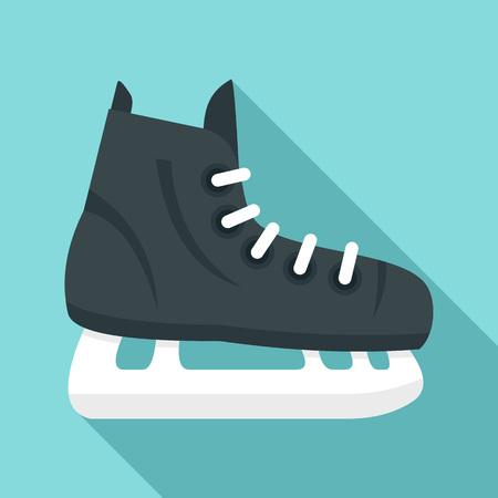 Hockey ice skate icon. Flat illustration of hockey ice skate vector icon for web design