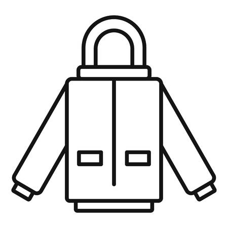 Winter jacket icon. Outline winter jacket vector icon for web design isolated on white background