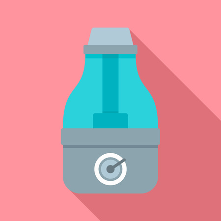 House humidifier icon. Flat illustration of house humidifier vector icon for web design
