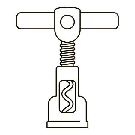 Steel corkscrew icon. Outline steel corkscrew vector icon for web design isolated on white background Archivio Fotografico - 126934264