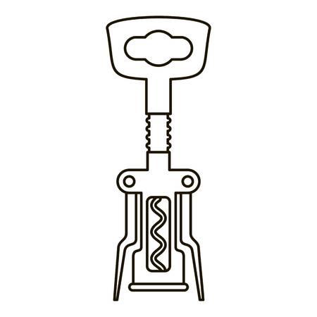 Corkscrew icon. Outline corkscrew vector icon for web design isolated on white background Archivio Fotografico - 126934265