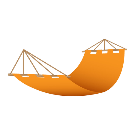 Beach hammock icon. Realistic illustration of beach hammock vector icon for web design