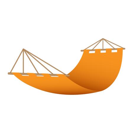 Symbol für Strandhängematte. Realistische Darstellung des Vektorsymbols für Strandhängematten für Webdesign Vektorgrafik
