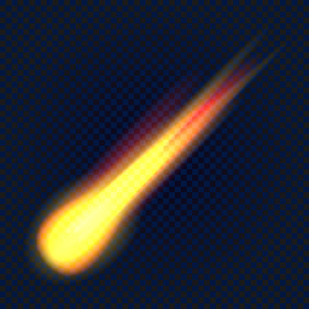 Meteorite icon, realistic style