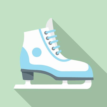 Figure ice skate icon. Flat illustration of figure ice skate vector icon for web design Illustration