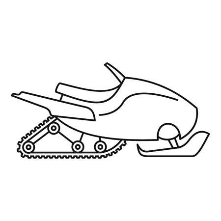 Icône de motoneige de montagne. Décrire l'icône vecteur de motoneige de montagne pour la conception web isolé sur fond blanc