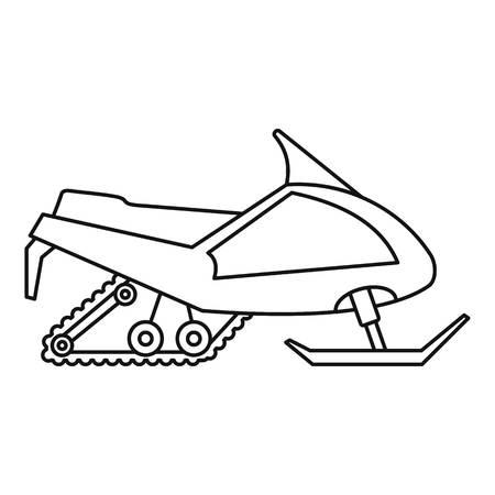 Icône de motoneige d'expédition. Contours expédition motoneige icône vecteur pour la conception web isolé sur fond blanc