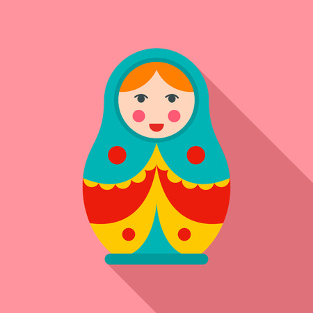Soviet nesting doll icon. Flat illustration of soviet nesting doll vector icon for web design