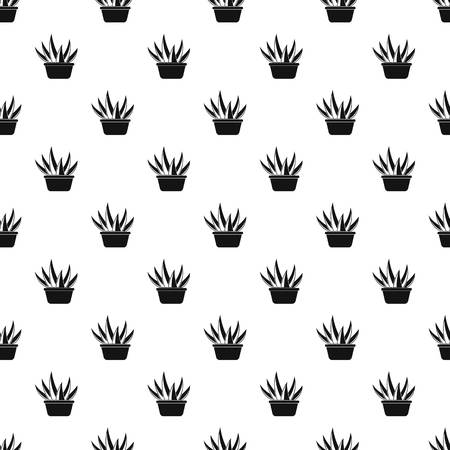 Aloe vera pot pattern seamless vector repeat geometric for any web design