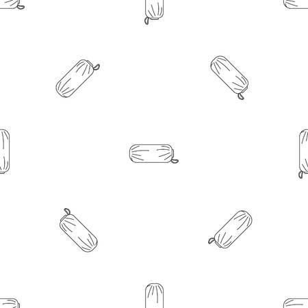 Packed sleep icon. Outline illustration of packed sleep vector icon for web design isolated on white background
