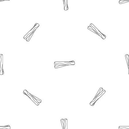 Propolis sticks icon, outline style Illustration