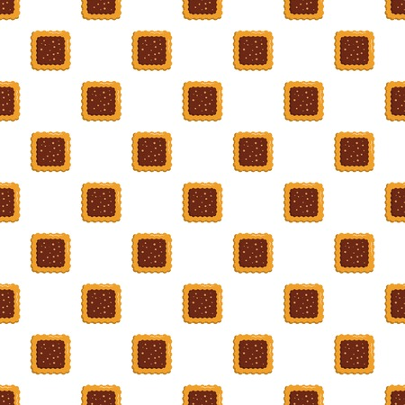Square biscuit pattern seamless vector  イラスト・ベクター素材