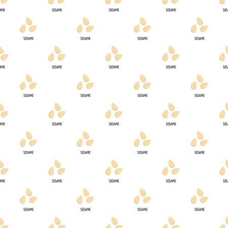 Sesame pattern seamless vector