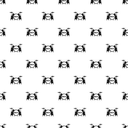 Rock drums pattern seamless vector repeat geometric for any web design Illustration