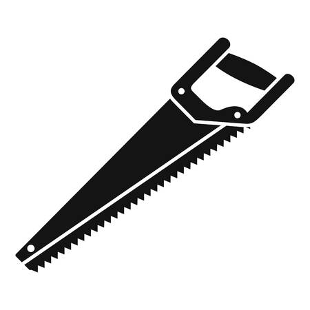 Home handsaw icon. Simple illustration of home handsaw vector icon for web design isolated on white background