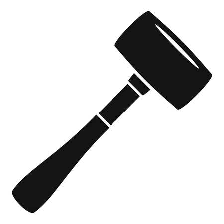 Sledge hammer icon, simple style