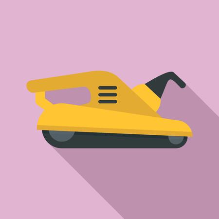 Polish machine icon, flat style Illustration