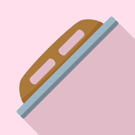 Grout construction tool icon. Flat illustration of grout construction tool vector icon for web design Иллюстрация