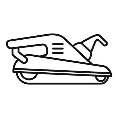 Polish machine icon, outline style Illustration