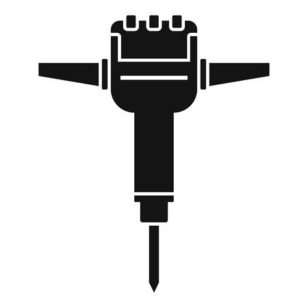 Impact rock drill icon. Simple illustration of impact rock drill vector icon for web design isolated on white background Foto de archivo - 126743754