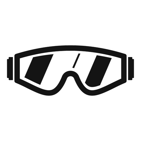 Schutzbrille-Symbol. Einfache Illustration der Schutzbrille-Vektorikone für das Webdesign lokalisiert auf weißem Hintergrund