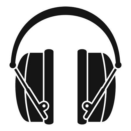Noise headphones icon, simple style Vektoros illusztráció