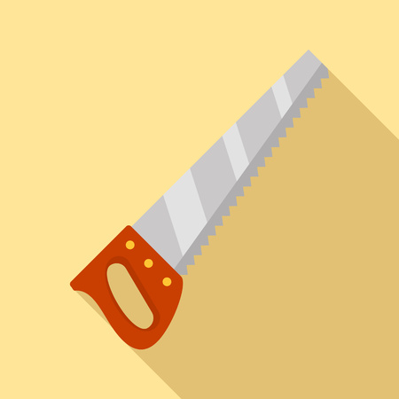 Hand saw icon. Flat illustration of hand saw vector icon for web design Stock Illustratie