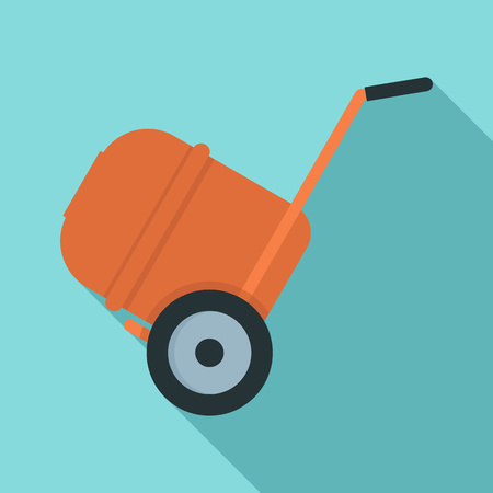 Concrete mixer icon. Flat illustration of concrete mixer vector icon for web design