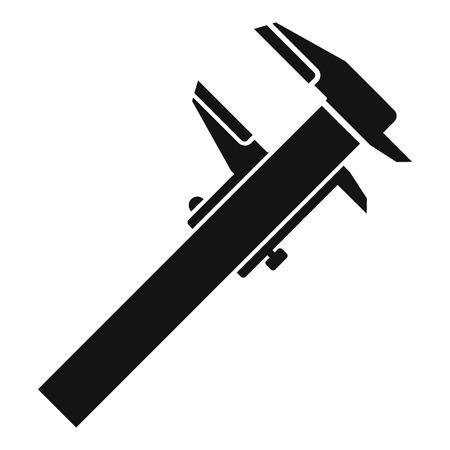 Steel caliper icon, simple style
