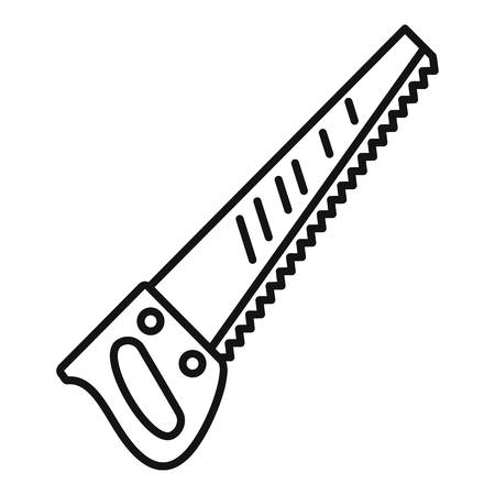 Hand saw icon. Outline hand saw vector icon for web design isolated on white background