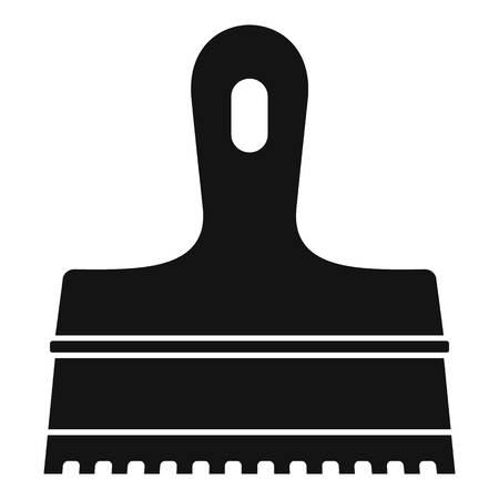Glue spatula icon. Simple illustration of glue spatula vector icon for web design isolated on white background