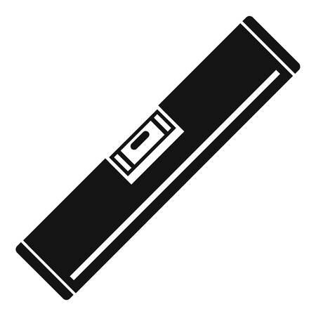 Level-Tool-Symbol. Einfache Illustration der Vektorikone des Niveauwerkzeugs für das Webdesign lokalisiert auf weißem Hintergrund