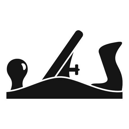 Old jack plane icon, simple style Illustration