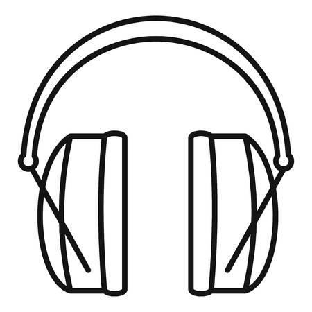 Noise headphones icon, outline style Vektoros illusztráció