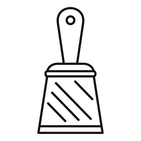 Icône de couteau à mastic. Contours couteau à mastic icône vecteur pour la conception web isolé sur fond blanc