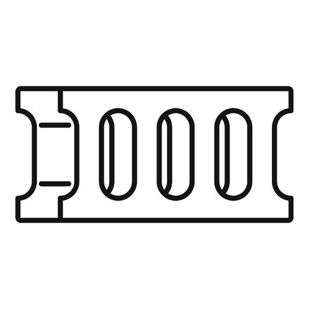 Concrete block icon. Outline concrete block vector icon for web design isolated on white background