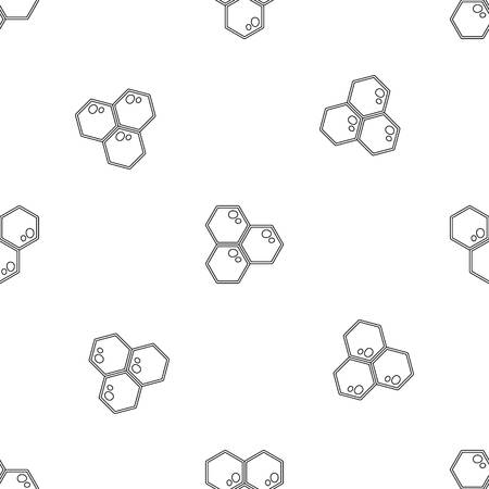 Honey comb icon. Outline illustration of honey comb vector icon for web design isolated on white background