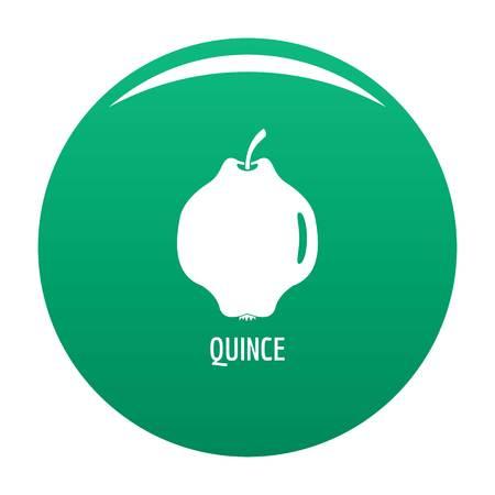 Quince icon vector green