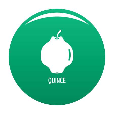 Quince icon vector green