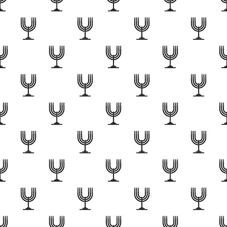 Candles on support pattern seamless vector Ilustracja