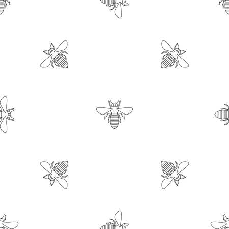 Bee icon. Outline illustration of bee vector icon for web design isolated on white background Ilustração