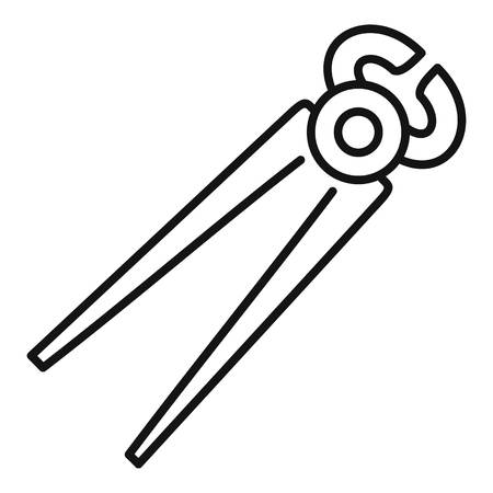 Pliers icon, outline style Illustration