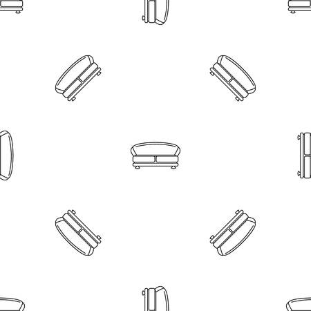 Oval sofa icon. Outline illustration of oval sofa vector icon for web design isolated on white background
