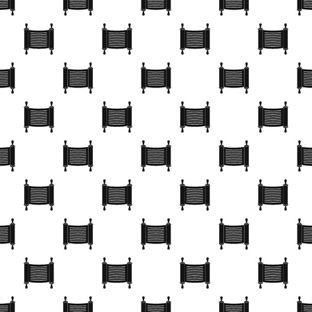 Torah scroll pattern seamless vector Illustration