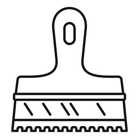 Glue spatula icon. Outline glue spatula vector icon for web design isolated on white background