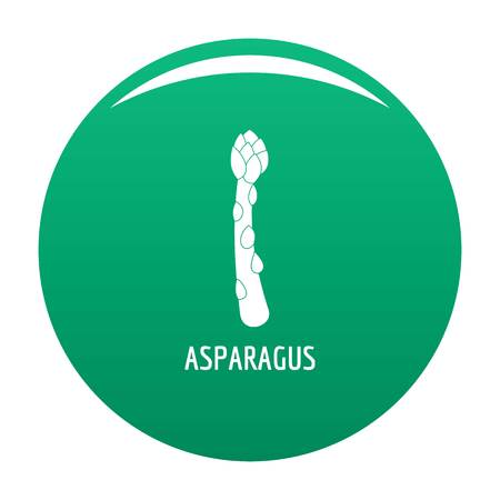 Asparagus icon vector green